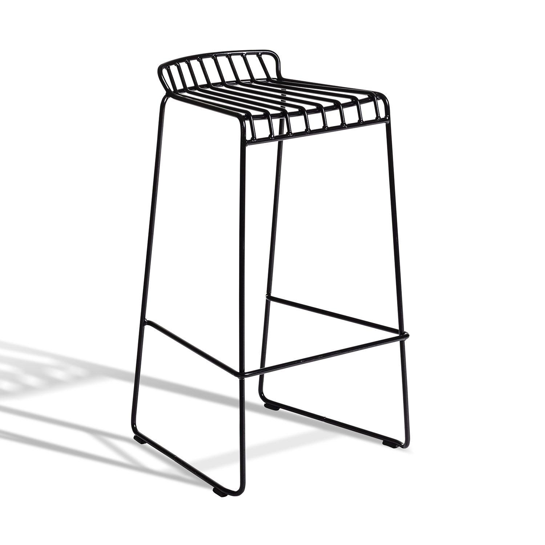 Resö hög barstol i svart.