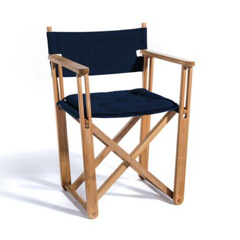 Kryss matstol i marinblått SUnbrella.