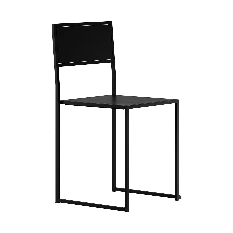 Chair 2 från Design Of i svartlackat stål.