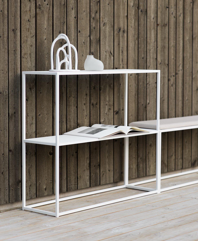 Design Of Outdoor sideboard och bench med bänkdyna