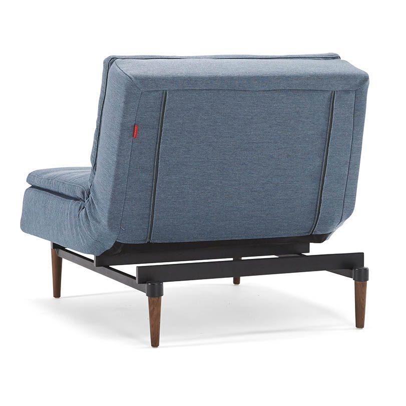 Bild på Dublexo fåtölj från Innovation Living i färgen Soft Indigo.