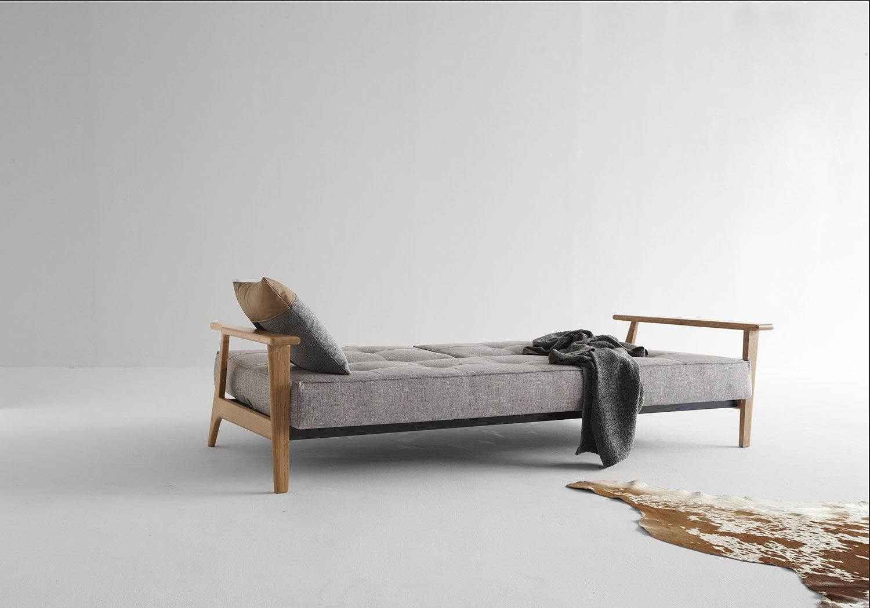 Miljöbild på Splitback Frej bäddsoffa från Innovation Living i färgen Mixed Dance Grey.
