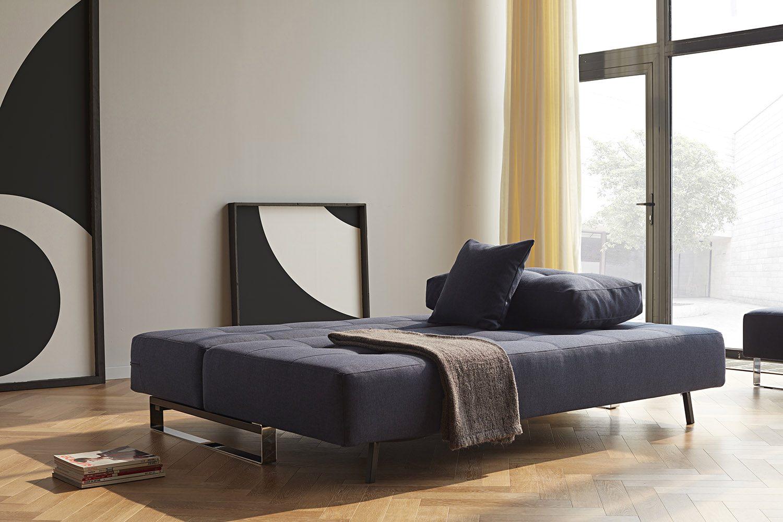 Miljöbild på soffan Supremax Deluxe Excess Lounger i tyget Mixed Dance Blue.