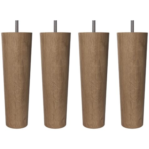 Runda konade träben från Wonderland i oljad ek, 19 cm.
