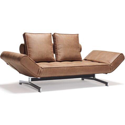 Ghjia bäddsoffa från Innovation Living i tyget Leather Look Faunal.