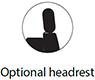 Illustration på Optional headrest för Innovation Living produkter.