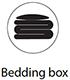 Illustration på Bedding box för Innovation Living produkter.