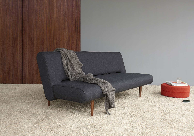 Innovation Unfurl soffa i tyget Nist Black.