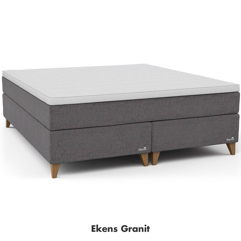 Essens kontinentalsäng från Ekens i färgen Granit.