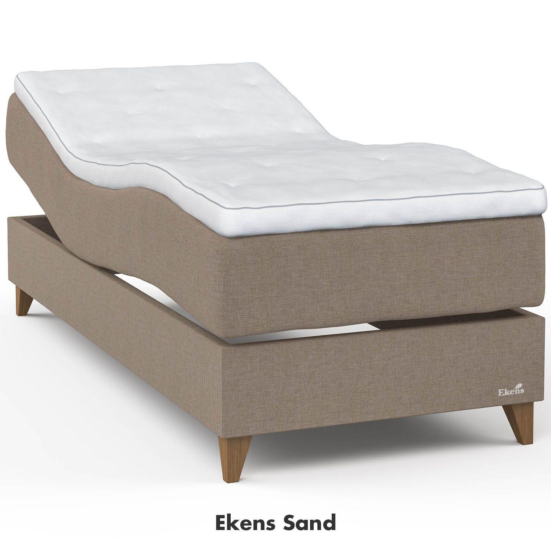 Ekens Elegans ställbar säng i tyget sand.