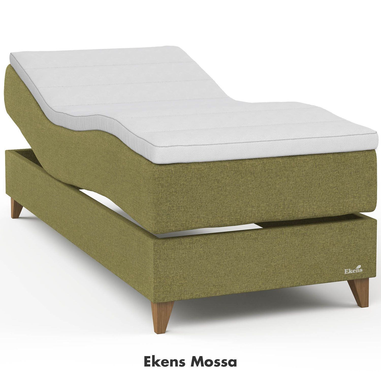 Ekens Elegans ställbar säng i tyget mossa.