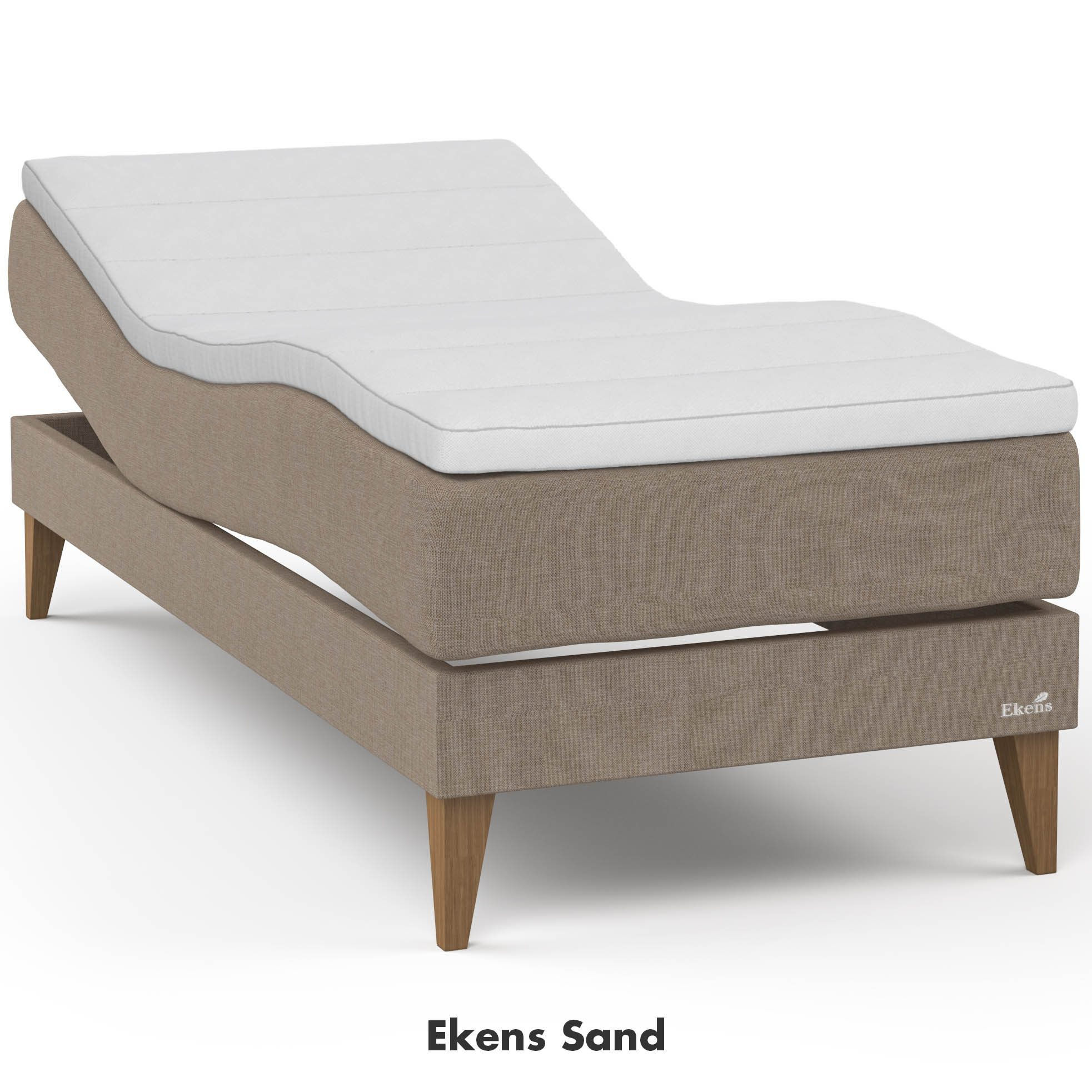 Ekens Essens ställbar säng i tyget sand.