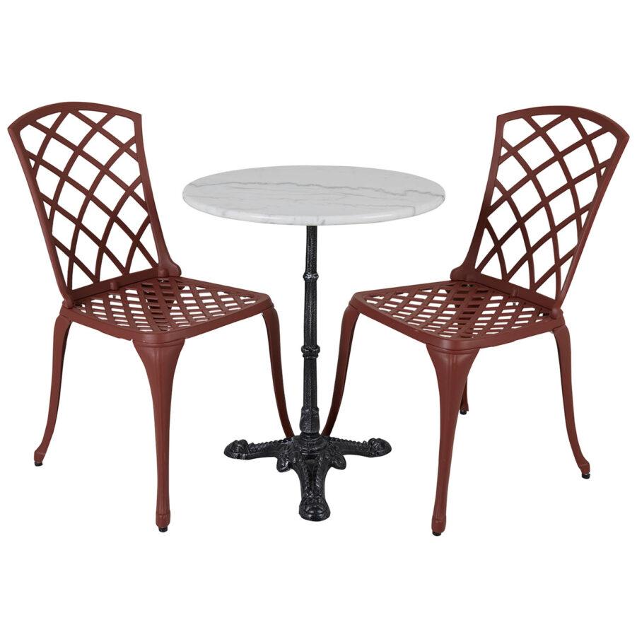 Arras och Loire grupp med röda stolar.