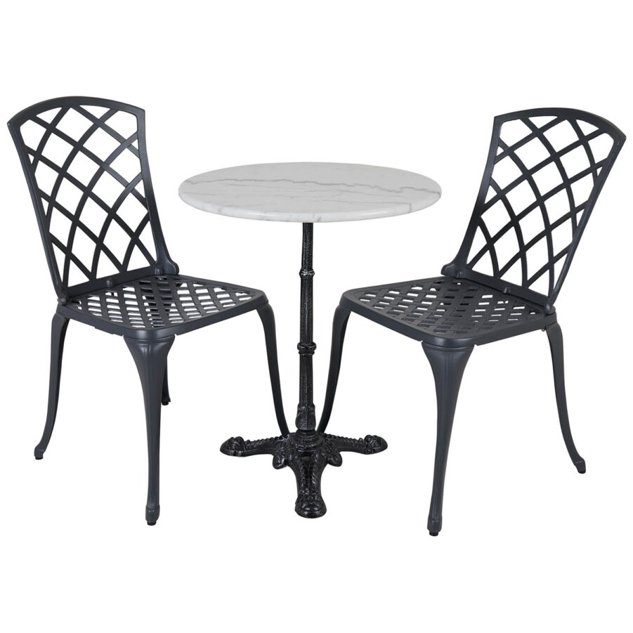 Arras och Loire grupp med antracitgrå stolar.