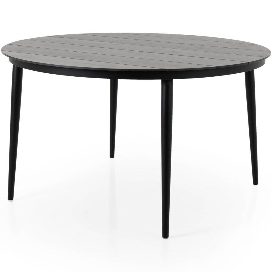 Callander matbord i svart med grå träimitationsskiva.