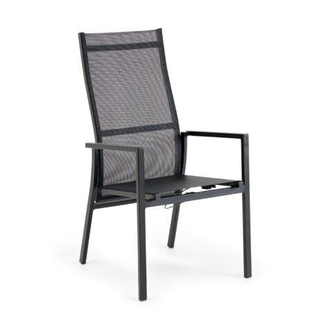 Avanti positionsstol i svart aluminium och textilene.