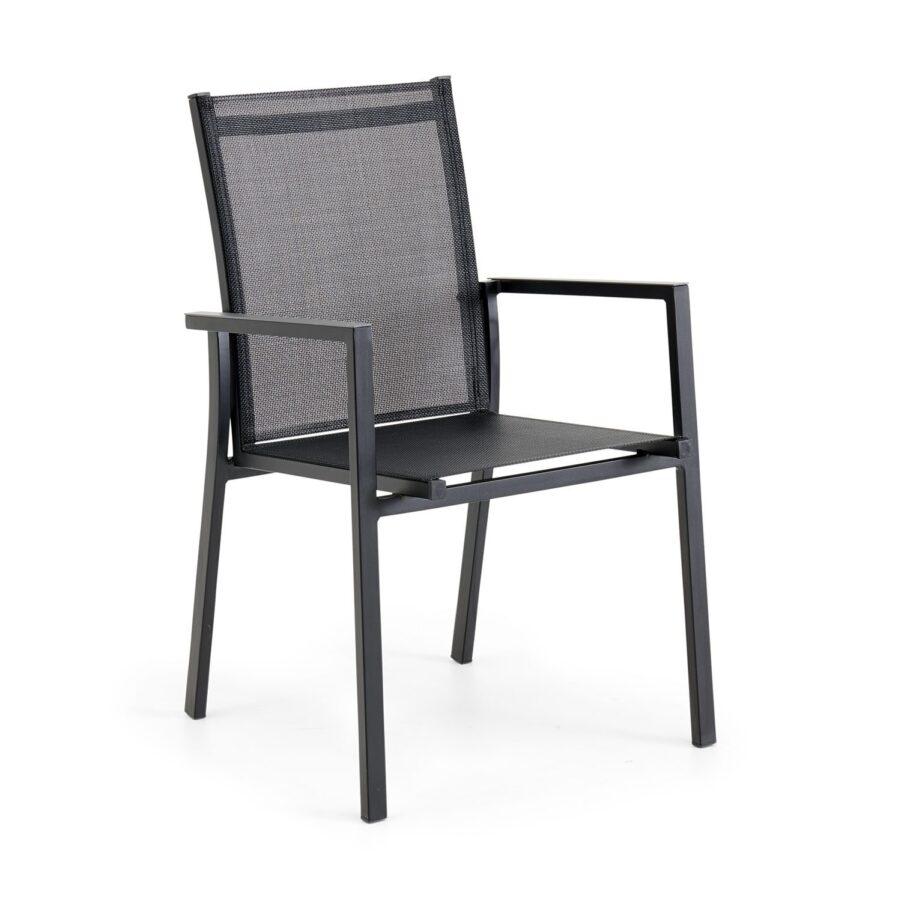 Avanti stapelbar karmstol i svart.