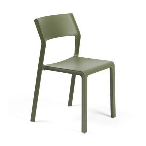Trill stapelstol utan karm i färgen Mossgrön.