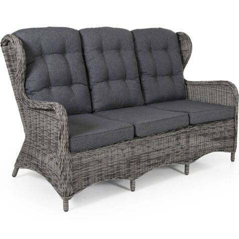 Rosita 3-sitssoffa i grått med grå dyna.