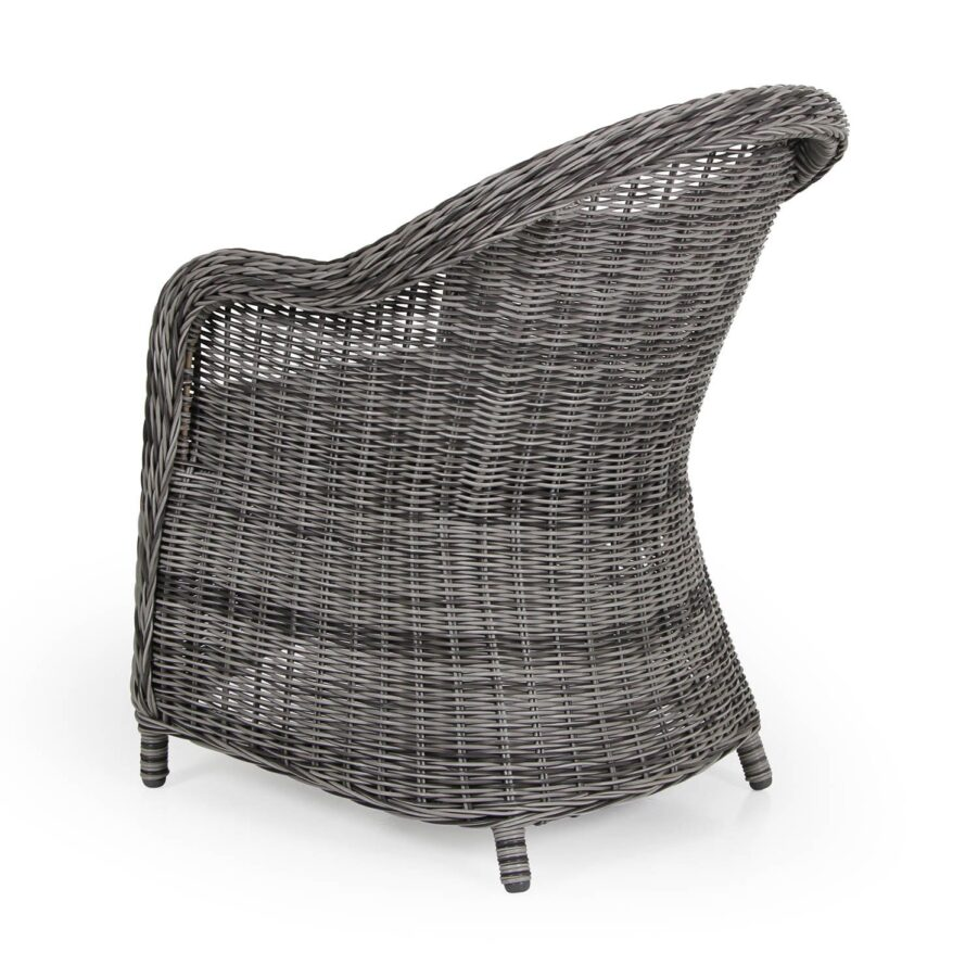 Eads karmstol i grå konstrotting.