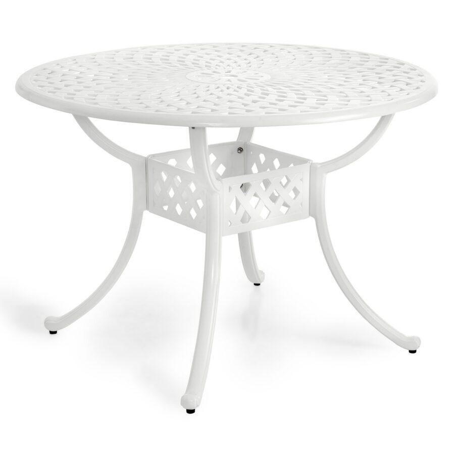 Arras matbord i klassisk design i vitt.