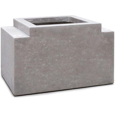 Modulo betongfot med planteringskärl.