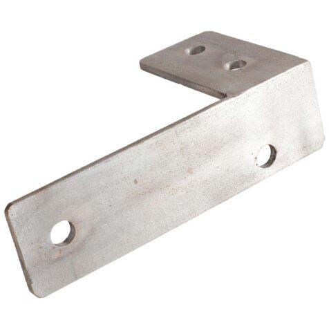 Monteringsbeslag till Modulo bänk i rostfritt stål.