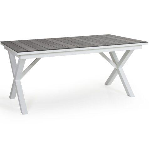 Hillmond förlängningsbart matbord i vitt.