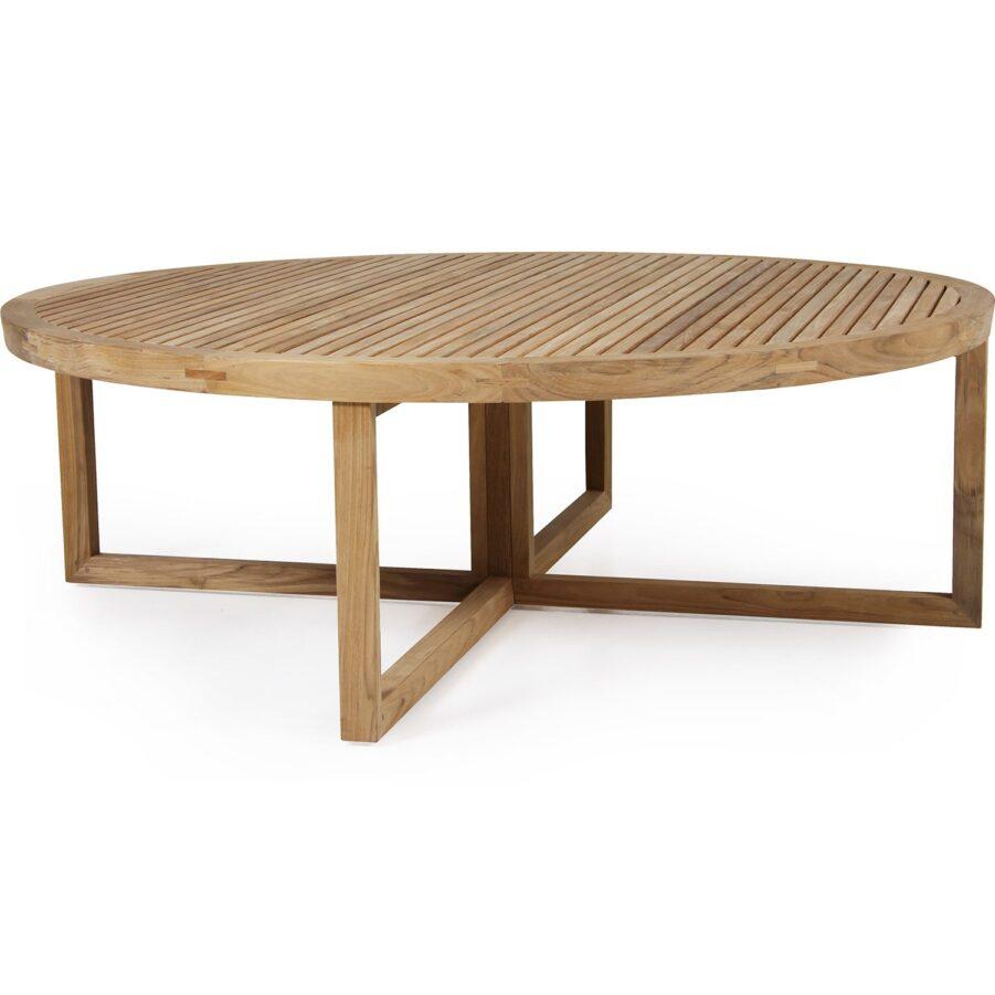 Soffbordet Vevi i teak från Brafab.