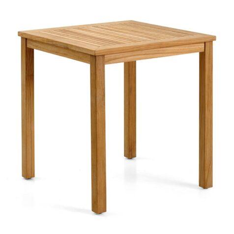Volos matbord i teak med en storlek på 70x70 cm.