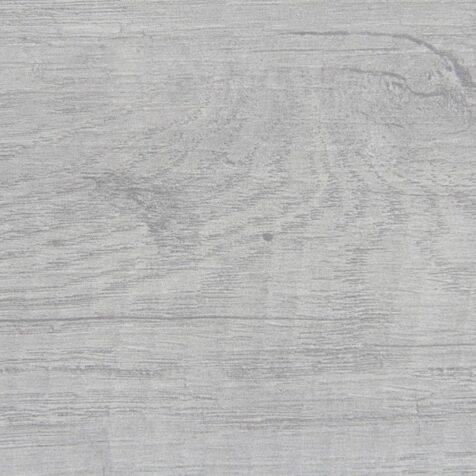 Bordsskiva i laminat i ljusgrå träimitation.