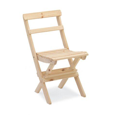 Torpet stol i obehandlad furu från Hillerstorp.