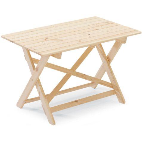 Torpet bord i obehandlad furu från Hillerstorp.