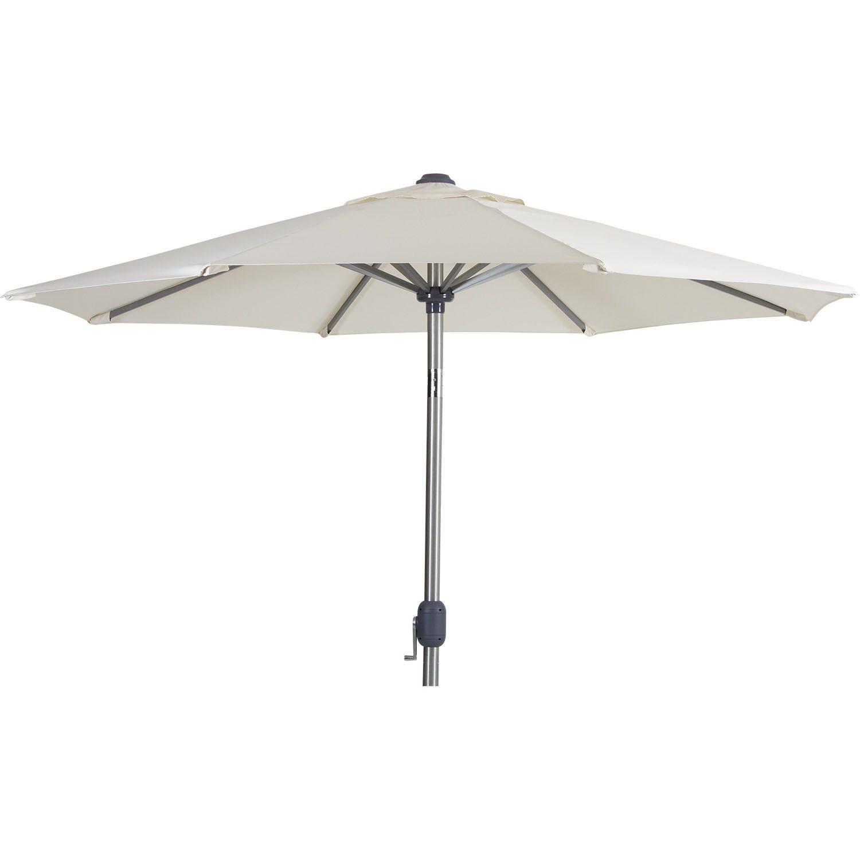 Andria parasoll runt 2,5 m i beige.