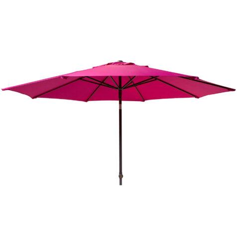 Solar Line parasoll i rosa, utan parasollfot.