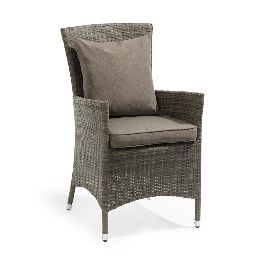 Bild på Krabi sittdyna och kudde i stol.