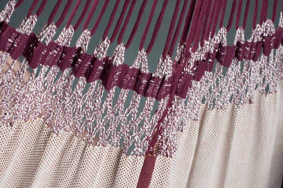 Detaljbild på Bossanova hängmatta från La Siesta.