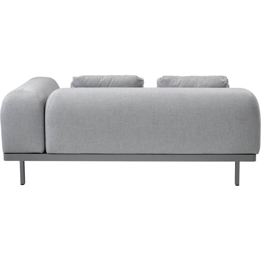 Space 2-sits avslut eller soffa med rygg och sidodyna i ljusgrått.
