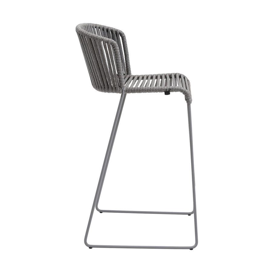 Moments barstol i grått SoftRope från Cane-Line.