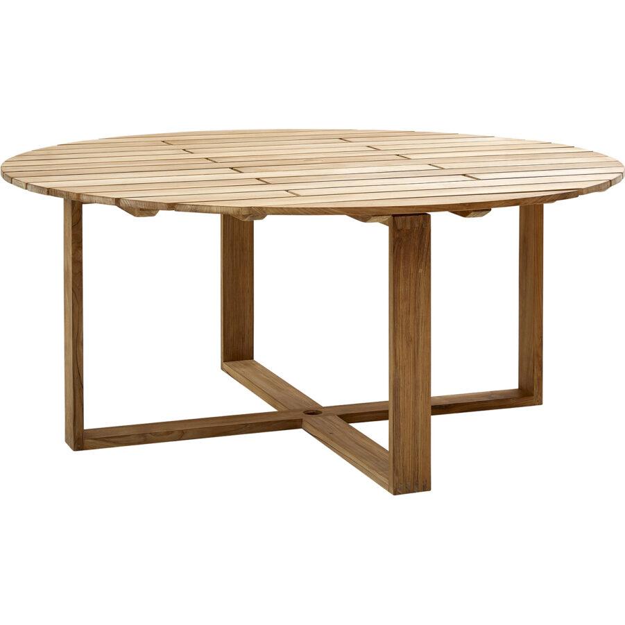 Endless matbord i teak i storleken 170 cm i diameter.