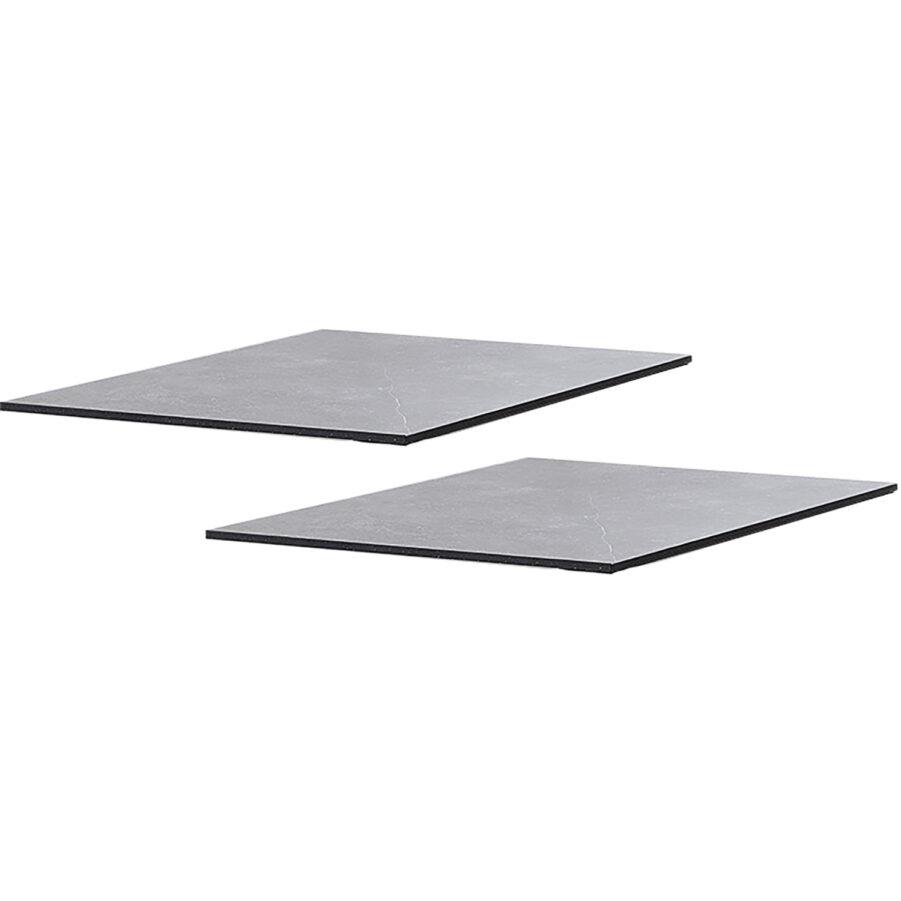 Tilläggsskivor i keramik till Cane-Line bord i färgen svart.