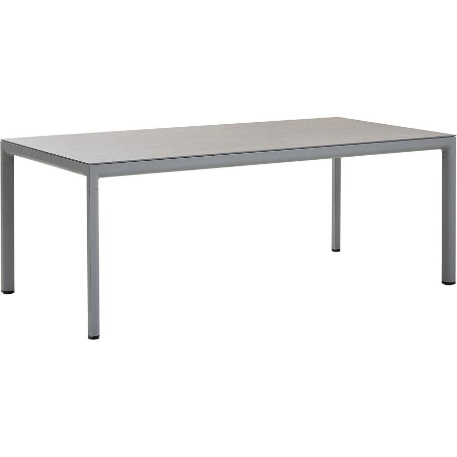Drop matbord i ljusgrått med basaltgrå bordsskiva.