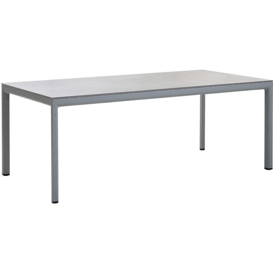 Drop matbord i ljusgrått med grå bordsskiva.