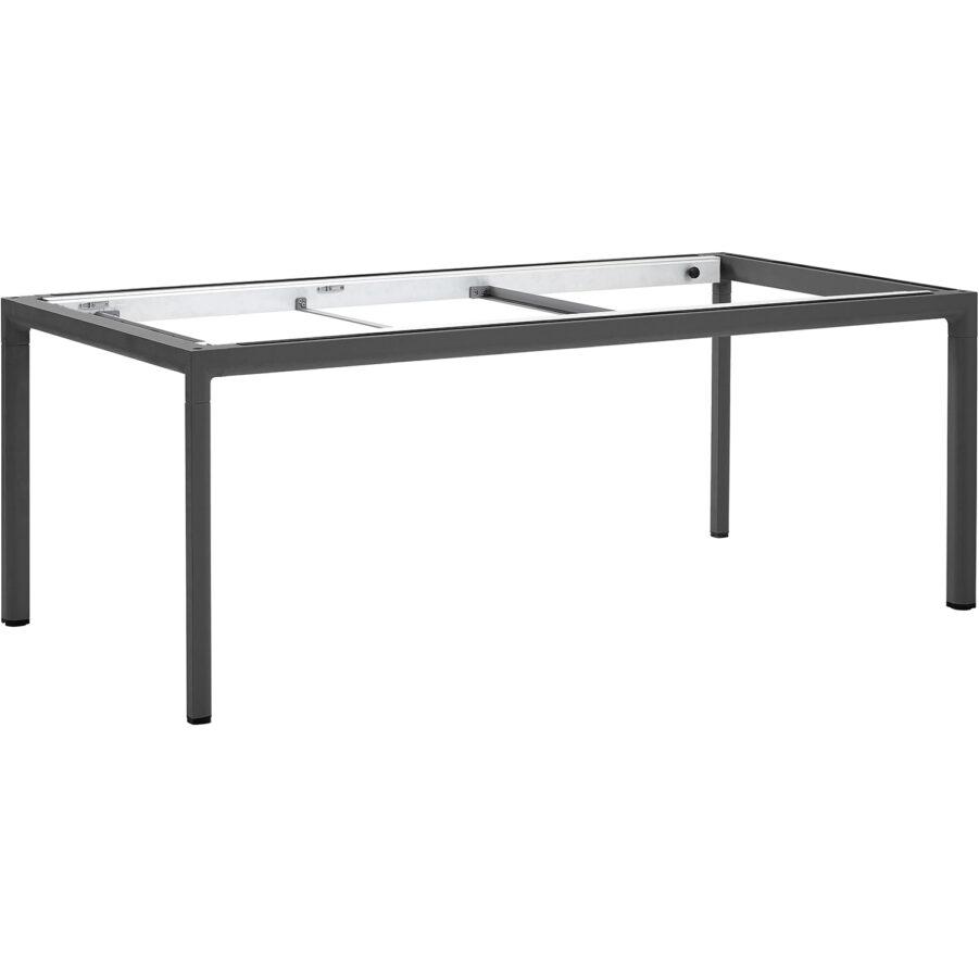 Bordsstativ i lavagrått till Drop matbord i storleken 200x100 cm.