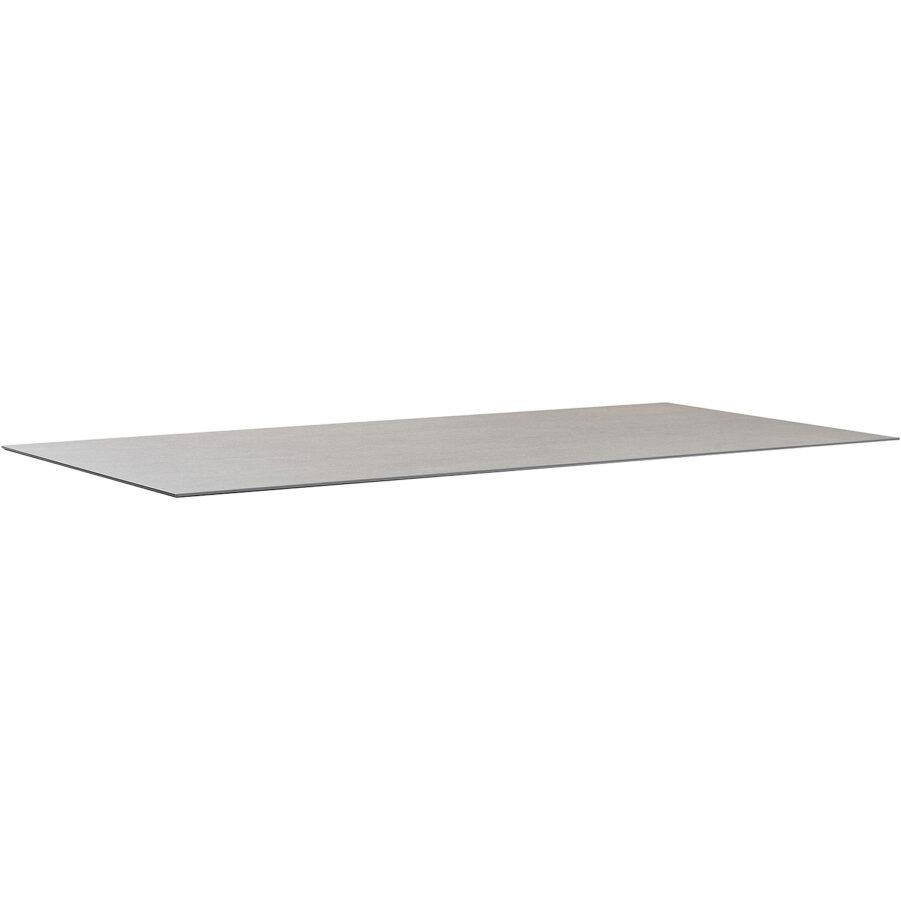 Keramikbordsskiva i färgen betonggrå i storleken 200x100 cm.