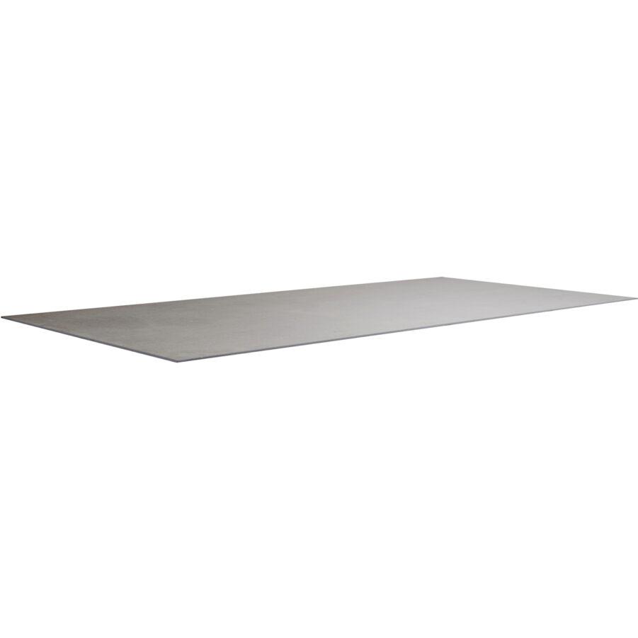 Keramikbordsskiva i färgen basaltgrå i storleken 200x100 cm.