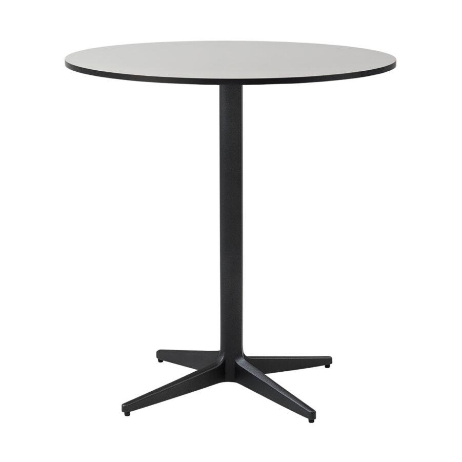 Drop cafébord i lavagrått med grå laminatskiva.