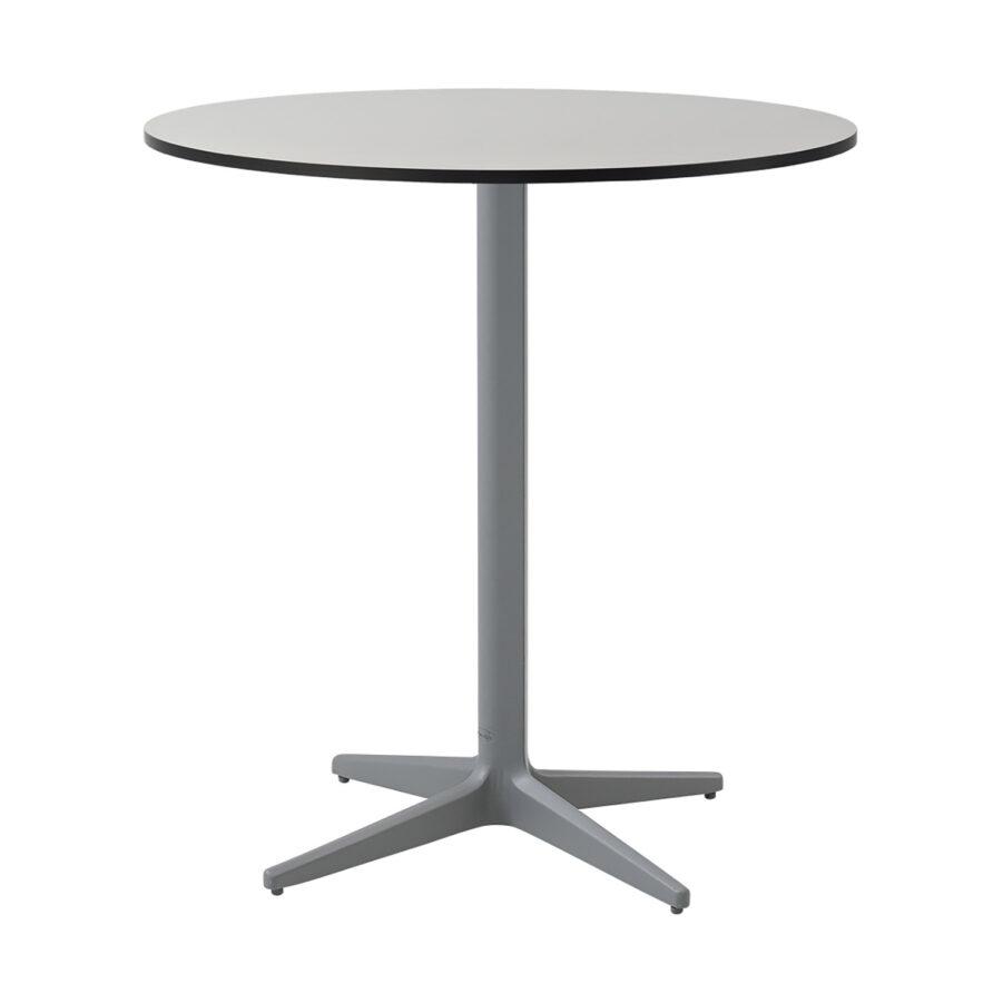 Drop cafébord i ljusgrått med grå laminatskiva.