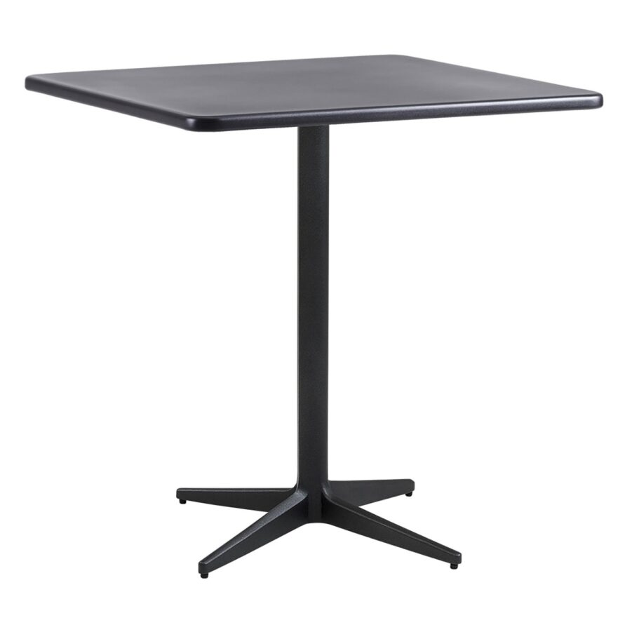 Drop kvadratiskt cafébord i aluminium i färgen lavagrått.