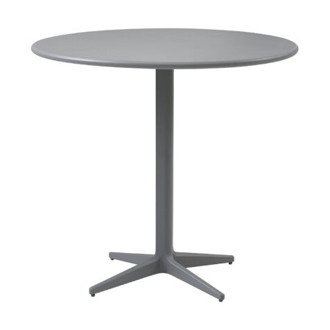 Drop cafébord i i ljusgrått och i storleken 80 cm i diameter.